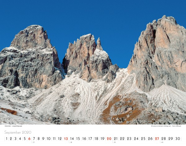 Wall Calendar The Alps 2020