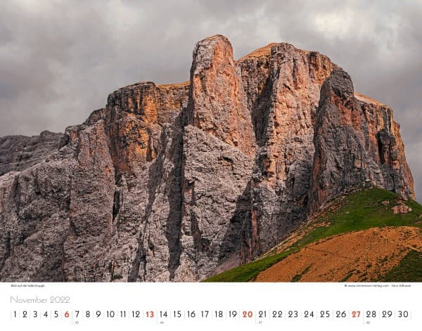 Wall Calendar The Alps 2022