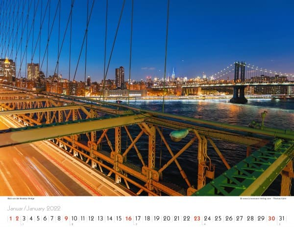 Wall Calendar New York 2022