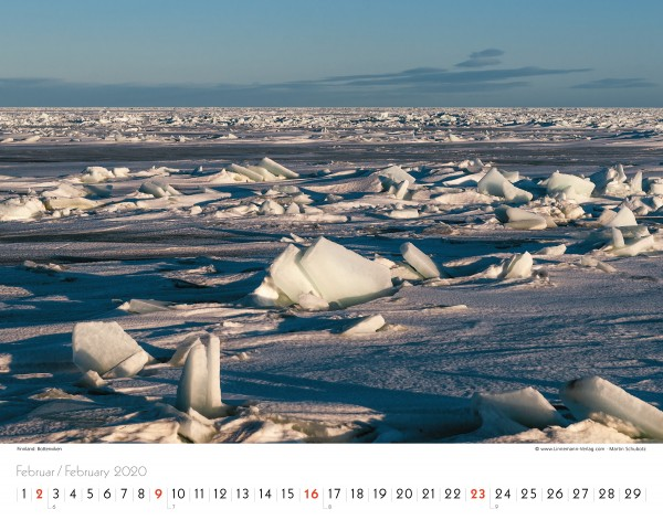 Wall Calendar Silence of the North 2020