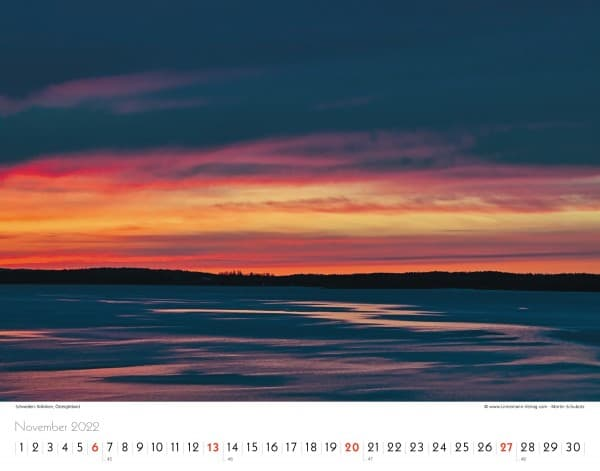 Wall Calendar Silence of the North 2022