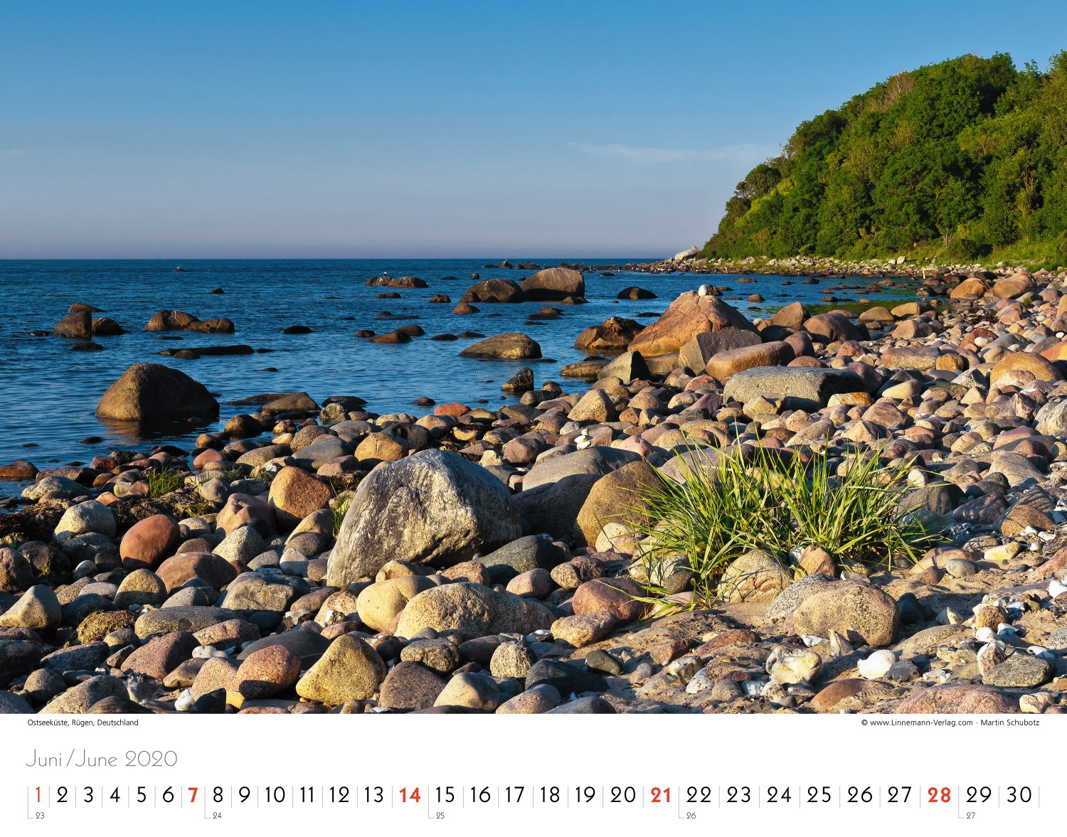 Wall Calendar North Sea 2020