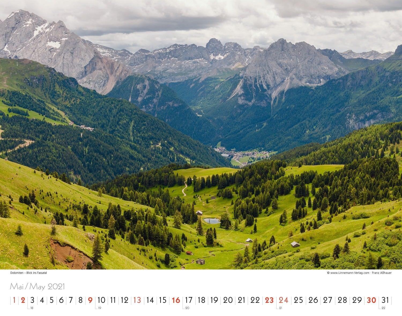 Kalender Südtirol 2021 - Linnemann Verlag