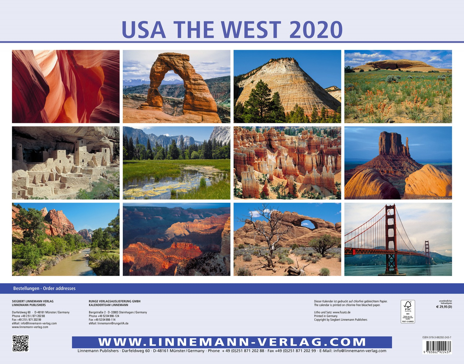 USA The West 2020